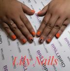 Best Nails - Narancs absztrakt