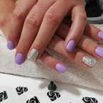 lila ezüst csillámos