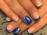 Best Nails - Francia kék kombó