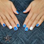 Kék fehér gél lakk