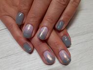 Best Nails - Szürke rózsaszín ombre