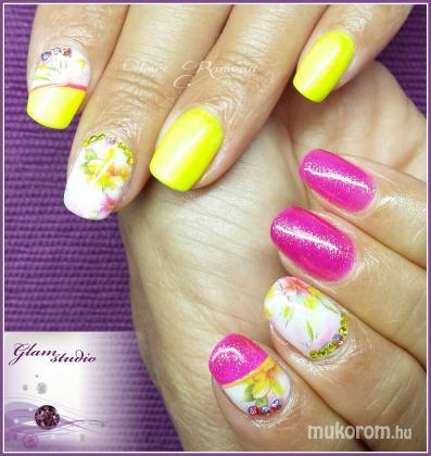 Neon sárga és pink - Gél Lakk