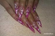 Best Nails - Rózsaszín zselé akril díszítéssel