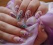 akril virágos