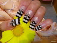 Best Nails - Monochrome Stripy French by MyDesigns4You
