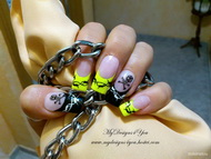 Best Nails - Neon Wire and Skull Nails By MyDesigns4You