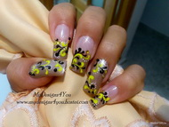 Best Nails -  Black and Yellow Fall Nails by MyDesigns4You