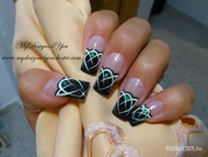 Best Nails - Mysterious Emerald Gem Nails