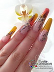 Combo with handpainted flowers