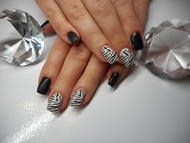 Best Nails - Zebra nails