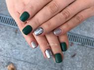 Best Nails - Zöld ezüst kombináció