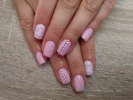 Rózsaszín mintás