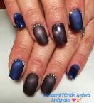 Best Nails - Matt kék cateye