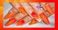 Best Nails - Orange nail art