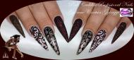 Brown nail art