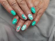 Best Nails - Zöld és ink drops