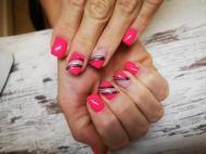 Best Nails - Neon pink es spider gel