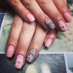 Best Nails - Domború és festett macis minta