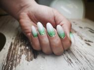 Best Nails - Glitter milky ombre