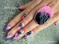 Best Nails - Combined nail decoration