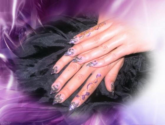 Györené Csertán Gyöngyi - Pink Cadillac Professional Nails Körömszalon - Purple nail - 2015-10-25 08:48