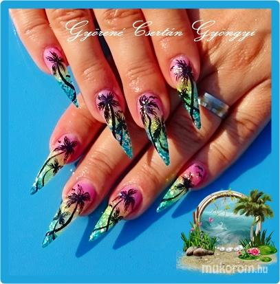 Nail artist's pictures - Györené Csertán Gyöngyi - Pink