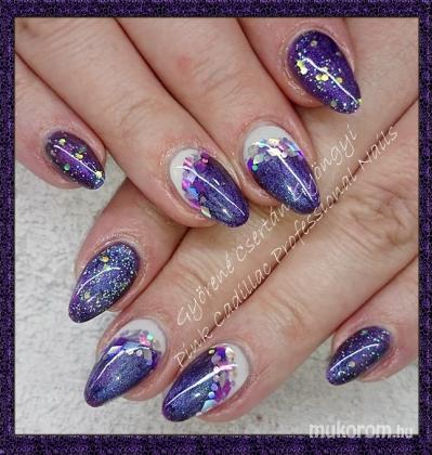 Purple nails - Kombinált műköröm díszítés