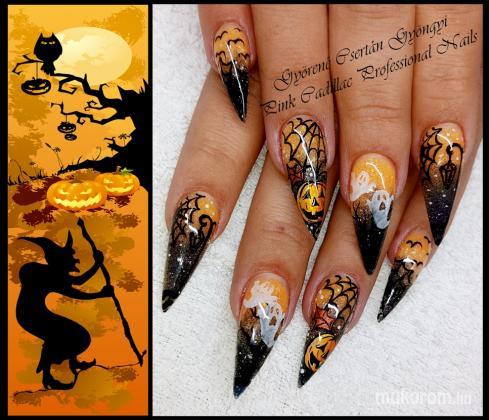 Halloween nail - Kombinált műköröm díszítés