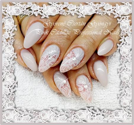 Lace nail - Kombinált műköröm díszítés