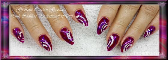 Pink Nail - Kombinált műköröm díszítés