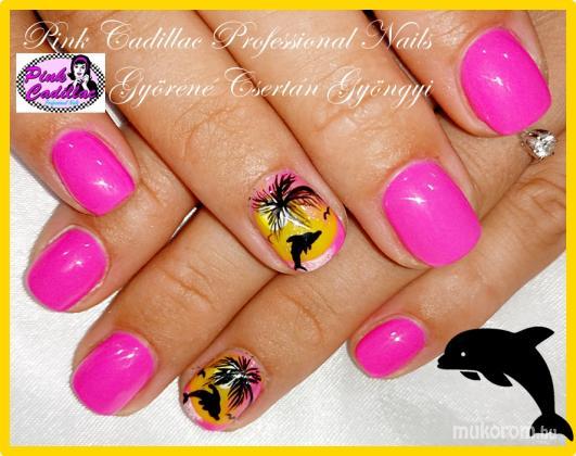 Györené Csertán Gyöngyi - Pink Cadillac Professional Nails Körömszalon - Summer nail art - 2018-10-19 18:51