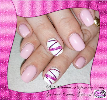 Györené Csertán Gyöngyi - Pink Cadillac Professional Nails Körömszalon - Pink nail art - 2018-10-19 19:11