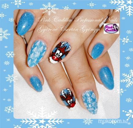Györené Csertán Gyöngyi - Pink Cadillac Professional Nails Körömszalon - Christmas nail art - 2018-12-30 20:44