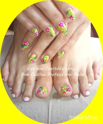 Györené Csertán Gyöngyi - Pink Cadillac Professional Nails Körömszalon - Flower nails - 2018-03-03 09:32