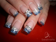 Best Nails - uñas en acrilico con kracked shells