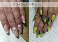 Best Nails - Lime ombre fekete mintával