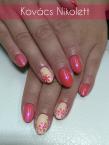 Best Nails - Magenta és krémszín mintával