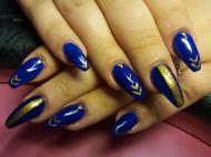 Best Nails - Kék arannyal