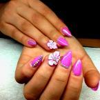 Best Nails - 3D Zselével Porcelán hatású virágok