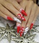 Best Nails - Hosszabb piros porcelán műköröm