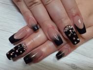 Fekete ombre kövekkel