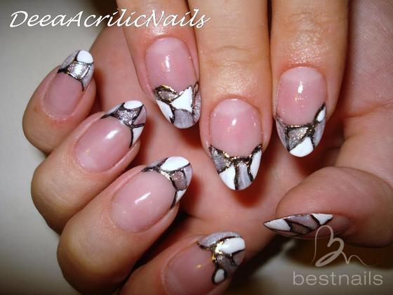 interesting best nails uas en acrilico con dibujo en gel with dibujos uas de porcelana - Dibujos Uas