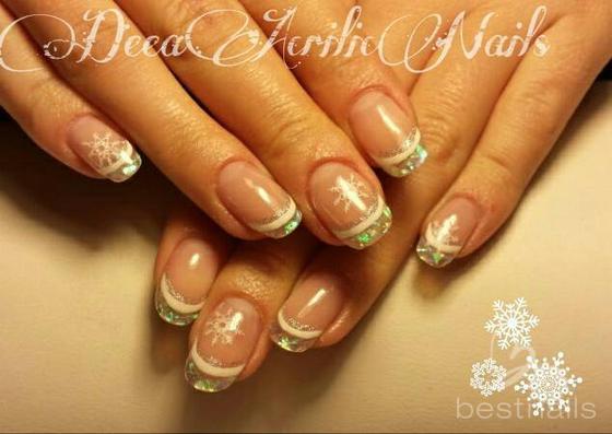 Best Nails , uñas en acrilico fantasia navidad