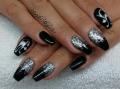 Fekete ezüst cicás balerina