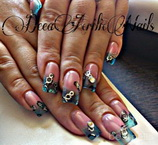 Best Nails - uñas en gel con tips modelo andreea
