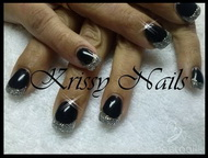 Best Nails - glitternight con base de porcelana