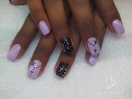 Best Nails - lila negro
