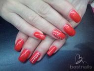 Best Nails - rojo ferrari