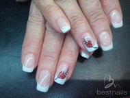 Best Nails - corazon rojo