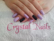 Best Nails - lila negra 2